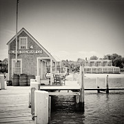 Analog Framed Prints - Analog Photography - Marthas Vineyard Black Dog Wharf Framed Print by Alexander Voss