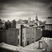 Analog Framed Prints - Analog Photography - New York Roofscape Framed Print by Alexander Voss