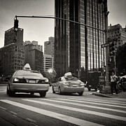 Analog Framed Prints - Analog Photography - New York Columbus Circle Framed Print by Alexander Voss
