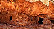 Communities Posters - Anasazi  Cliff Dwelling Poster by Robert Bales
