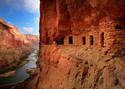 Dwelling Photos - Anasazi Granaries by Inge Johnsson