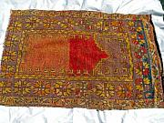 Asia Tapestries - Textiles Originals - Anatolian prayer rug wool carpet by Anonymous artist