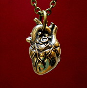 Gothic Jewelry - Anatomical Human Heart Pendant Necklace by Michael  Doyle