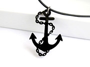 Perspex Necklace Jewelry - Anchor With Chain Pendant Necklace by Rony Bank