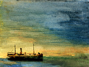 Ports Mixed Media Prints - Anchorage Print by R Kyllo