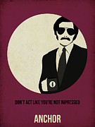 Famous Actors Posters Framed Prints - Anchorman Poster Framed Print by Irina  March