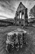 Black Digital Art Framed Prints - Ancient Abbey Framed Print by Adrian Evans