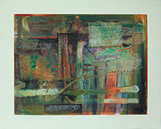 Blending Mixed Media Prints - Ancient Architecture Print by Catherine Sprague