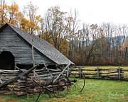 Pioneer Scene Prints - Ancient Barn Print by Robin Lewis