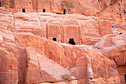 Old Wall Framed Prints - Ancient buildings in Petra Framed Print by Jane Rix