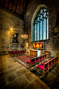 Stained Glass Prints - Ancient Cathedral Print by Adrian Evans