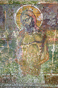 Corfu Prints - Ancient Christ Icon Print by Neil Overy