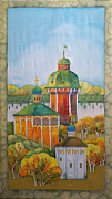 Moscow Paintings - Ancient City-2 by Khromykh Natalia