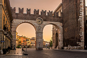 Piazza Bra Prints - Ancient City Gate of Verona Print by Arnaldo Torres