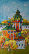 Orthodox Paintings - Ancient City by Khromykh Natalia