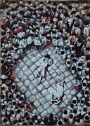Copy Paintings - Ancient Dancers of the Tarantula Dance in South Italy by Alessandra Andrisani