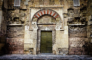 Great Mosque Framed Prints - Ancient Door to the Mezquita in Cordoba Framed Print by Artur Bogacki