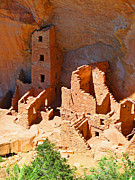Overhang Photo Framed Prints - Ancient Dwelling Framed Print by Alan Socolik