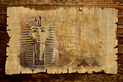 Whale Painting Prints - Ancient Egypt Civilization 02 Print by Catf