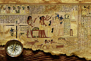 Whale Painting Prints - Ancient Egypt Civilization 06 Print by Catf