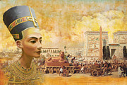 Pyramid Painting Framed Prints - Ancient Egypt Civilization 09 Framed Print by Catf