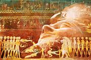 Pyramid Painting Framed Prints - Ancient Egypt Civilization Detail 00 Framed Print by Catf