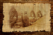 Pyramid Painting Framed Prints - Ancient Egypt Civilization Detail 03 Framed Print by Catf