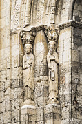 Castilla Prints - Ancient exterior saint figures Print by John Greim
