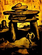 Halifax Art Work Prints - Ancient Grunge Print by John Malone