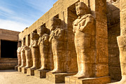 Egyptology Prints - Ancient Guardians at the Egyptian Ruins of Karnak Print by Mark E Tisdale