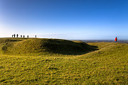 Winter Travel Photo Posters - Ancient Hill of Tara in the Winter Sun Poster by Mark Tisdale