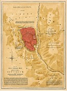 Antique Map Digital Art - Ancient Jerusalem Map Printed 1886 by Antique Engravings