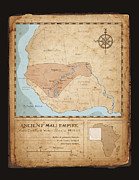 Old Map Digital Art Framed Prints - Ancient Mali Empire Framed Print by Dave Kobrenski