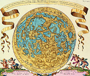 Old Map Digital Art Prints - Ancient Map of the World Print by Sanely Great