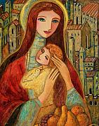 Christian Art Painting Originals - Ancient Mother and Son by Shijun Munns