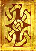 Sepia Posters - Ancient Ornamental Celtic Design Poster by Zeana Romanovna
