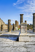 Roman Ruins Posters - Ancient Ruins Of Pompeii Poster by Mark E Tisdale