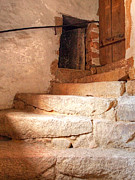 Wine Cellar Photos - Ancient Steps To The Attic by Gill Billington