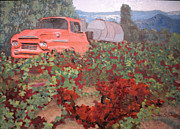 Ancient Truck Print by Donna Schaffer