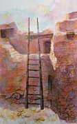 Southwest Indians Paintings - Ancient Walls by Ann Peck