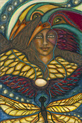 Visionary Artist Metal Prints - Ancient Wisdom Metal Print by Marie Howell Gallery