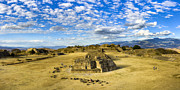 Ancient Ruins Prints - Ancient Zapotec Ruins Panorama - Monte Alban Print by Mark E Tisdale