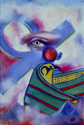 Horus Painting Metal Prints - Ancients Calling Metal Print by Rebecca Glaze