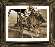 Horseracing Prints - And Away We Go Print by East Coast Barrier Islands Betsy A Cutler