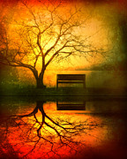 Lake Digital Art Metal Prints - And I Will Wait For You Until the Sun Goes Down Metal Print by Tara Turner