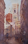 Europe Painting Framed Prints - And Suddenly The Duomo Framed Print by Jenny Armitage