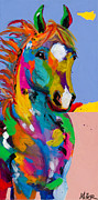 Horses In Art Prints - And They Called the Wind Mariah Print by Tracy Miller