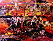 Jockey Paintings - And Theyre Off   by Mark Moore