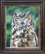 Great Outdoors Painting Originals - And You Were Saying FRAMED by Lori Brackett