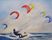 Para Surfing Prints - And Youll Take to the Skies Print by Cecelia Campbell